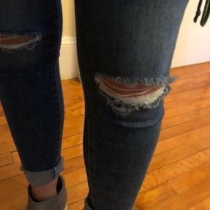 Paige Verdugo Ankle Jeans, 27 ripped @ knee